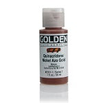 Golden Fluid Acrylic Quinacridone Nickel Azo Gold 1 oz