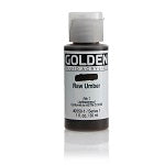 Golden Fluid Acrylic Raw Umber 1 oz