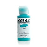 Golden Fluid Acrylic Teal 1 oz