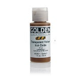 Golden Fluid Acrylic Transparent Yellow iron Oxide 1 oz