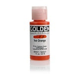 Golden Fluid Acrylic Vat Orange 1 oz