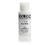 Golden Fluid Acrylic Zinc White 1 oz