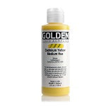 Golden Fluid Acrylic Cadmium Yellow Medium Hue 4 oz  (Prop 65 WARNING!)