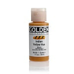 Golden Fluid Acrylic Indian Yellow Hue 1 oz  (Prop 65 WARNING!)