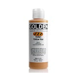 Golden Fluid Acrylic Indian Yellow Hue 4 oz  (Prop 65 WARNING!)