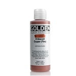 Golden Fluid Acrylic Iridescent Copper (fine) 4 oz