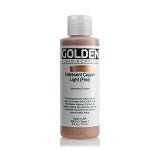 Golden Fluid Acrylic Iridescent Copper Light (fine) 4 oz