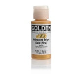 Golden Fluid Acrylic Iridescent  Bright Gold (fine) 1 oz