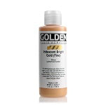 Golden Fluid Acrylic Iridescent Bright Gold (fine) 4 oz