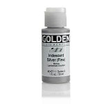 Golden Fluid Acrylic Iridescent  Silver (fine) 1 oz