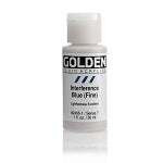 Golden Fluid Acrylic Interference Blue (fine) 1 oz