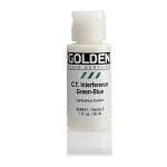Golden Fluid Acrylic Interference C.T. Green-Blue 1 oz