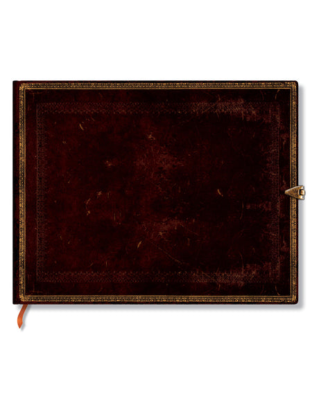 "Paperblanks Guestbook: Black Moroccan 9""x7"" Unlined 144 pages"