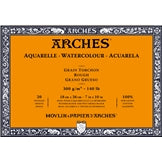 "ARCHES Watercolour Rough Natural White 140 lb 300 gsm 7"" x 10"" Block (20 Sheets)"