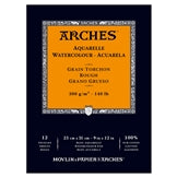 "ARCHES Watercolour Rough Natural White 140 lb 300 gsm 9"" X 12"" Pad (12 Sheets)"