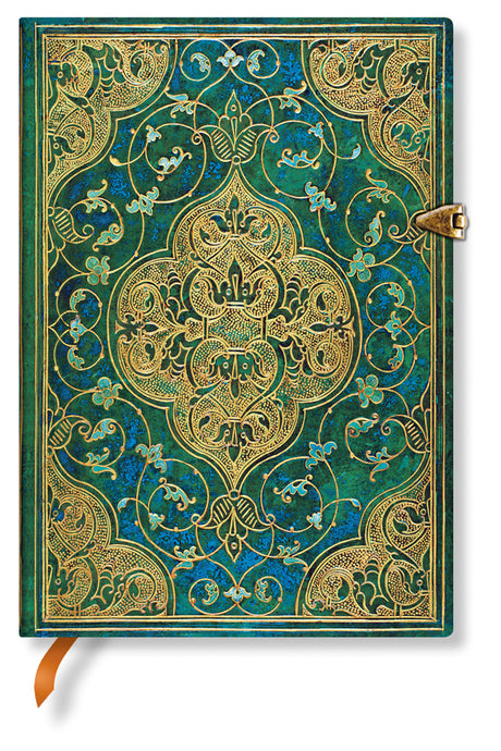 "Paperblanks Turquoise Chronicles  - Midi Unlined 5""x7"", 240 pages"