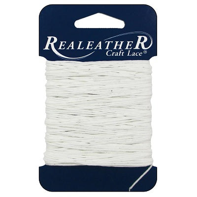 Realeather Waxed Thread - 25 yards White