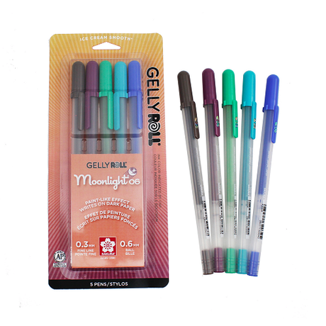 Gelly Roll Moonlight Fine 06 - 5 color Twilight Set