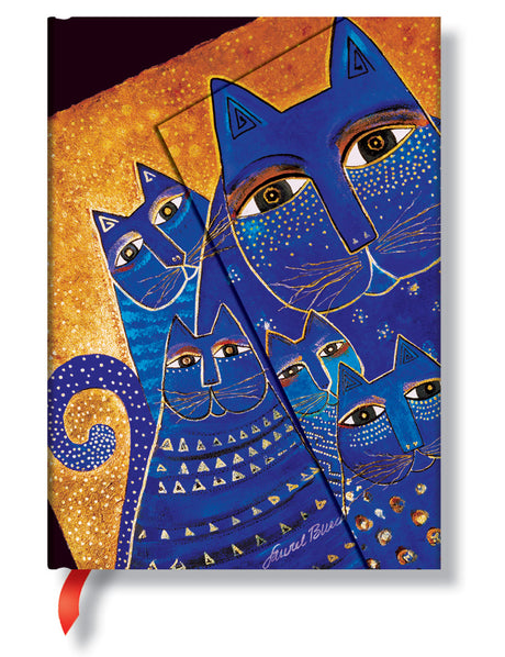 "Paperblanks Journal - Mediterranean Cats Midi Lined 5"" X 7"""