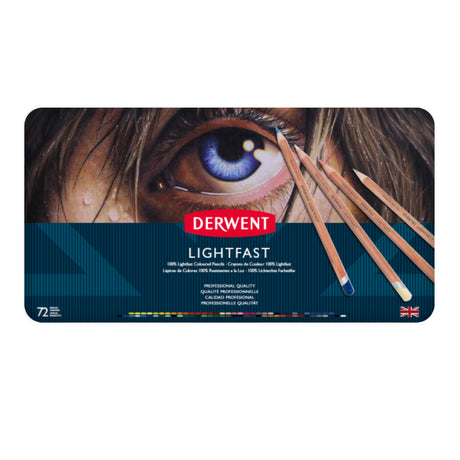 Derwent Lightfast Colored Pencil Set of 72 Pencils in Metal Tin