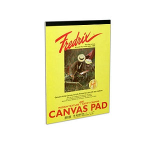 Fredrix Real Canvas Pad 12X16