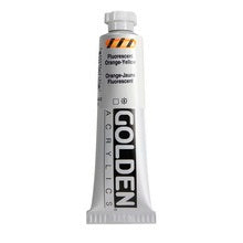Golden Heavy Body Acrylic Fluorescent Orange-Yellow 2 oz
