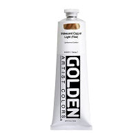 Golden Heavy Body Acrylic Iridescent Copper Light (fine) 5 oz