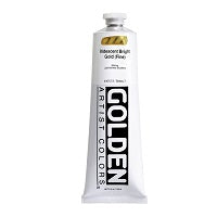 Golden Heavy Body Acrylic Iridescent Bright Gold (fine) 5 oz