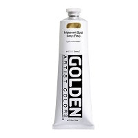 Golden Heavy Body Acrylic Iridescent Gold Deep (fine) 5 oz
