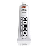 Golden Heavy Body Acrylic Iridescent Copper (Coarse) 5 oz