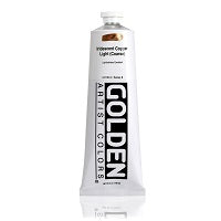 Golden Heavy Body Acrylic Iridescent Copper Light (Coarse) 5 oz