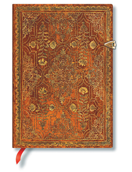Paperblanks Journal Fall Filigree Persimmon Midi Lined