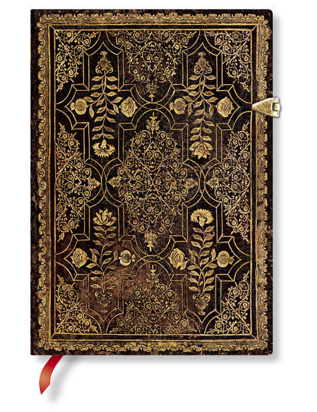 Paperblanks Journal Fall Filigree Mahogany Midi Unlined