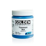 Golden Heavy Body Acrylic Fluorescent Blue 4 oz