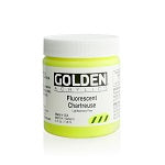 Golden Heavy Body Acrylic Fluorescent Chartreuse 4 oz
