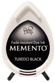Memento Dye Ink Pad - Dew Drop Tuxedo Black