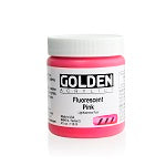 Golden Heavy Body Acrylic Fluorescent Pink 4 oz