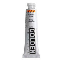 Golden Heavy Body Acrylic Fluorescent Orange 2 oz