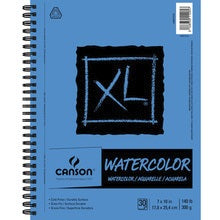 "Canson XL Watercolor Side Wire-Bound Pad - 30 Sheets 7"" X 10"""