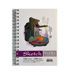 Merri Artist Special Edition Sketch Pad - Spiral Bound 5.5x8.5 100 Sheets 60 Lb.
