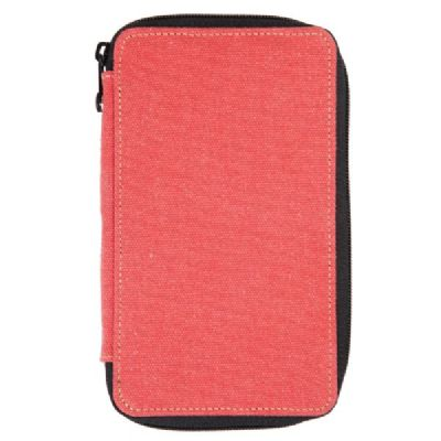 Global Art Canvas Pencil Case 24 Capacity - Rose