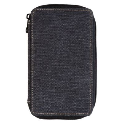 Global Art Canvas Pencil Case 24 Capacity - Black