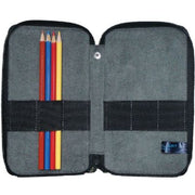 Global Art Canvas Pencil Case 24 Capacity - Steel Blue
