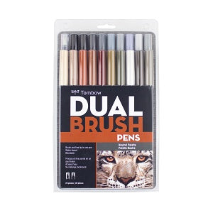 Tombow Dual Brush Marker Set of 20 - Natural Palette