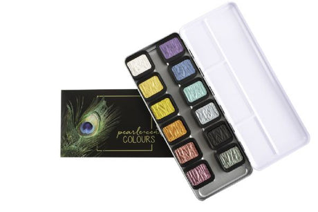 Finetec  F1200 Pearlescent Watercolor Paint 12 Color Set