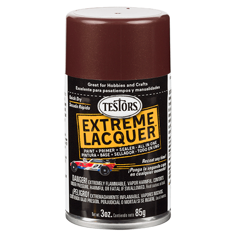 Testors Extreme (one coat) Spray Lacquer 3 oz - Root beer