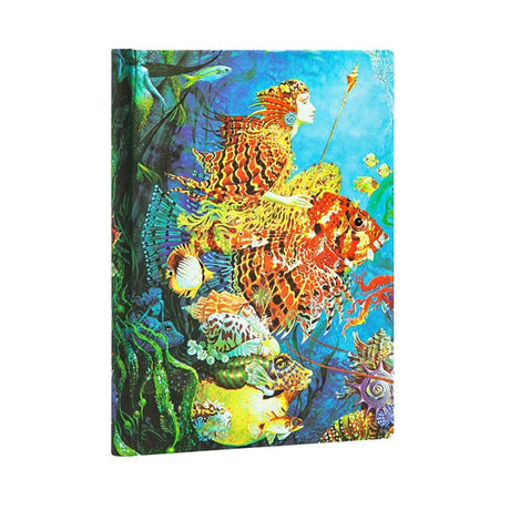 "Paperblanks Journal - Sea Fantasies Midi 5""x 7"" Unlined - 144 Pages"