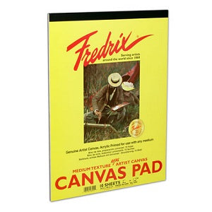 Fredrix Real Canvas Pad 18X24