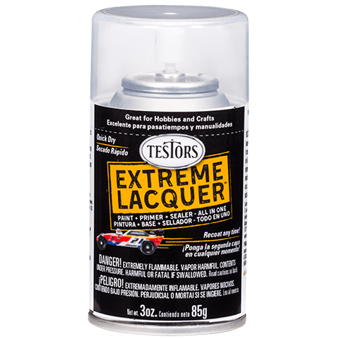 Testors Extreme (one coat) Spray Lacquer 3 oz - Wet Look Clear
