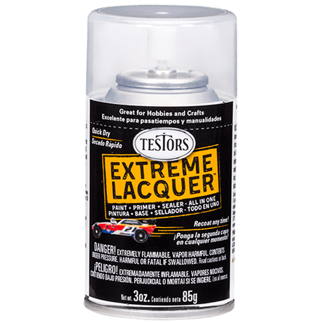 Testors Extreme (one coat) Spray Lacquer 3 oz - Wet Look Clear (ORM-D)
